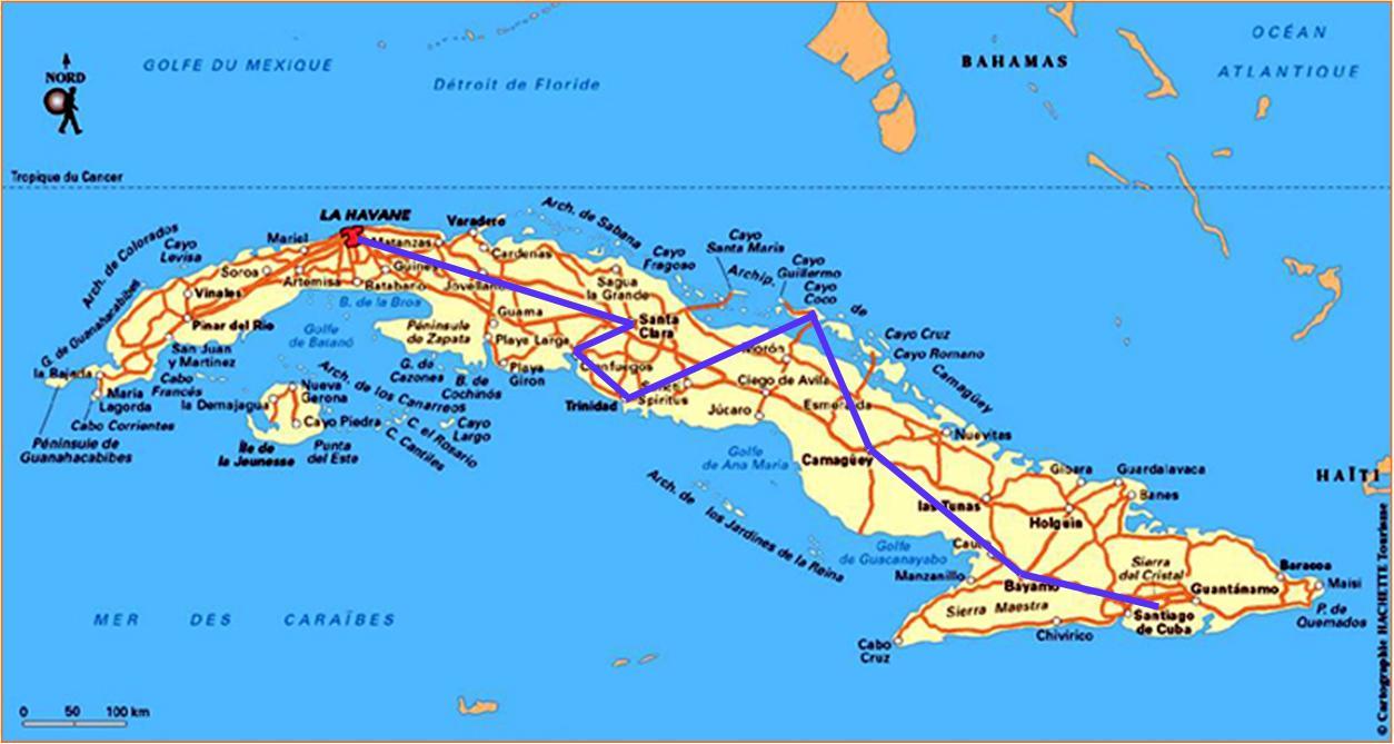 VLC : voyage Cuba   de Santiago de Cuba à La havane